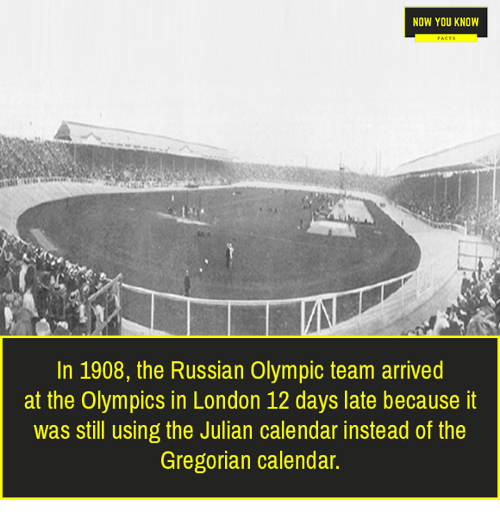 NOW YOU KNOW in 1908 the Russian Olympic Team Arrived at the ...