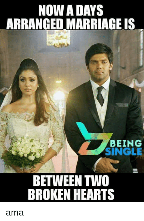 nowadays arranged marriage is being single between two broken hearts 17958457 nowadays arranged marriage is being single between two broken