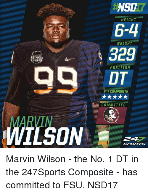 Nsd Height 6 4 Weight Position 247 Composite Committed Marvin Wilson