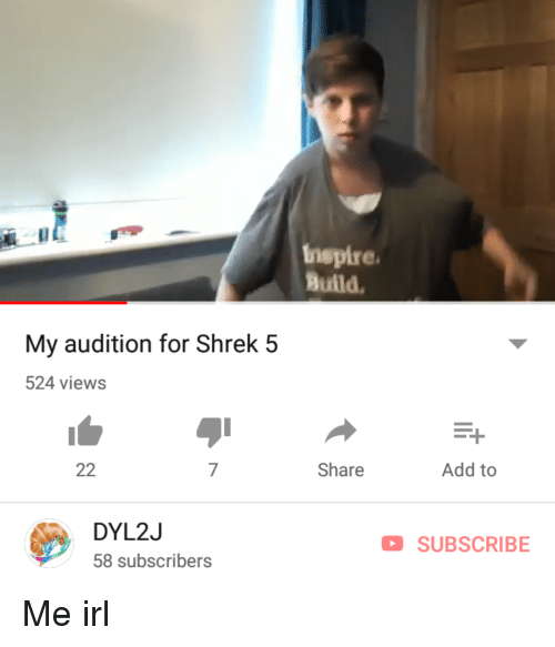 nspire build my audition for shrek 5 524 views share add to dyl2j 58