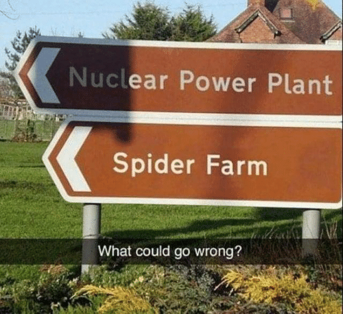 Dank, Spider, and Power: Nuclear Power Plant  Spider Farm  What could go wrong?