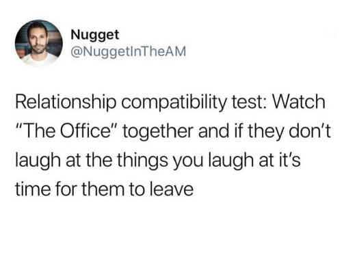 Nugget Relationship Compatibility Test Watch the Office