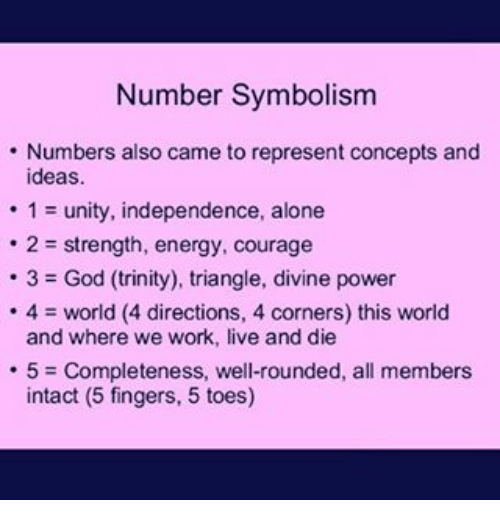 Number Symbolism Numbers Also Came To Represent Concepts And Ideas 1