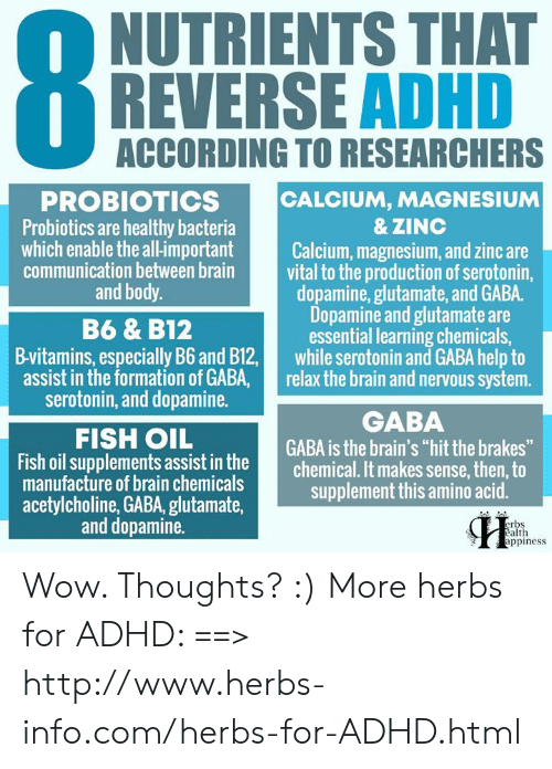 NUTRIENTS THAT REVERSE ADHD ACCORDING TO RESEARCHERS