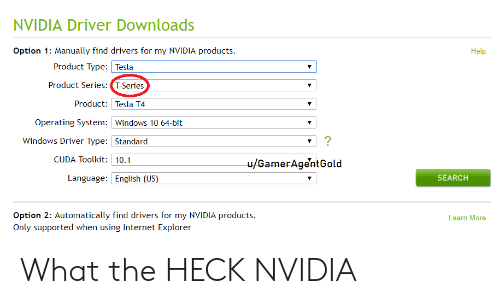 NVIDIA Driver Downloads Option 1 Manually Find Drivers for