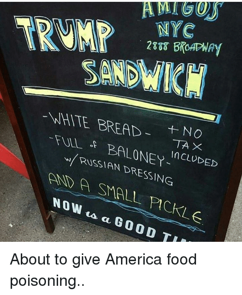 NYC E BREAD NO TAX N BALONEY RISSIAN DRESSING in CLUDED Now