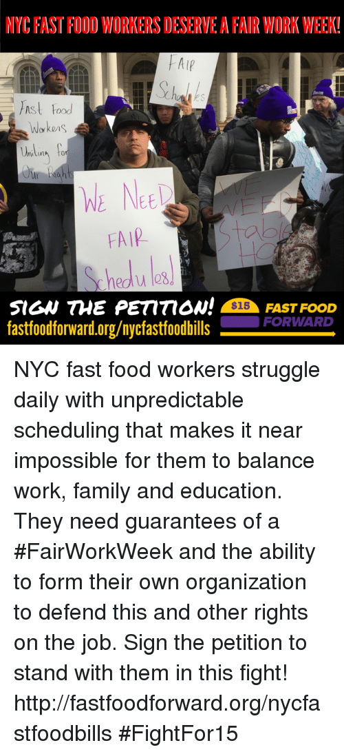 nyc fastfoodworkers deserve a fair work week alp food workes 10033484 fast food meme nyc fastfoodworkers deserve a fair work week! alp,Memes Nyc