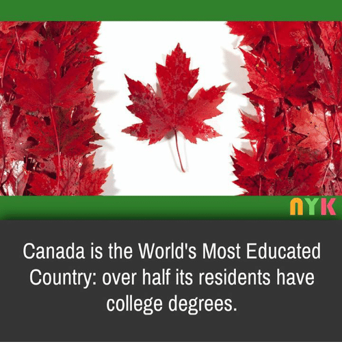 nYK Canada Is the World's Most Educated Country Over Half