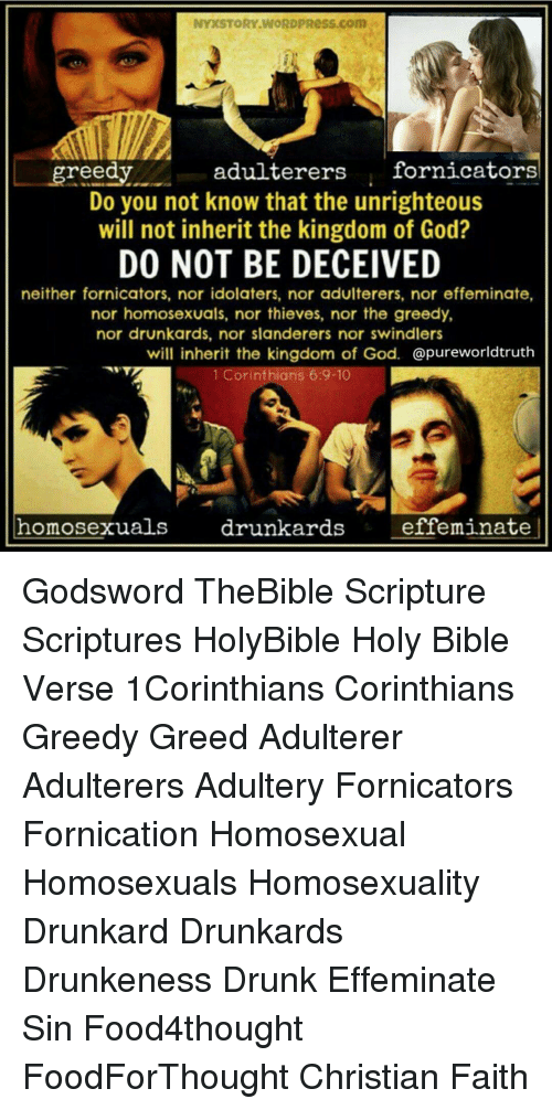 Effeminate and homosexuality and christianity