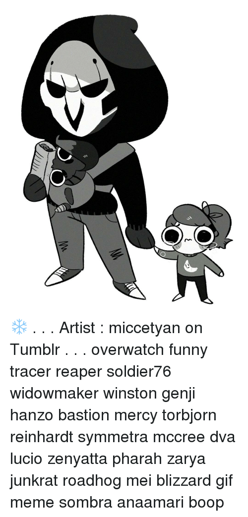 O Artist Miccetyan On Tumblr Overwatch Funny Tracer Reaper