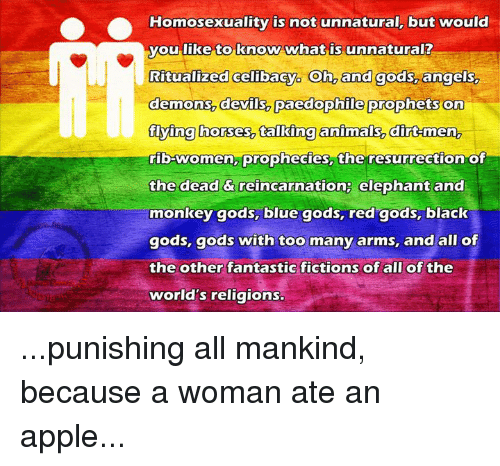 Unnaturalness of homosexuality