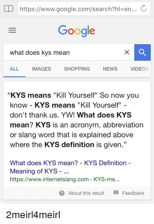 What does kys mean