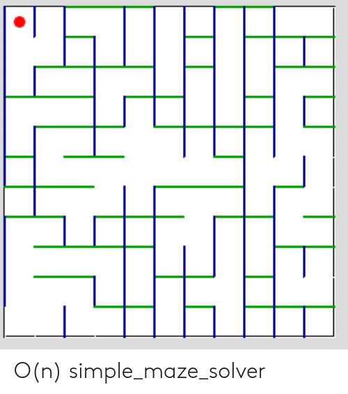 Simple,  Maze, and Mazee: O(n) simple_maze_solver