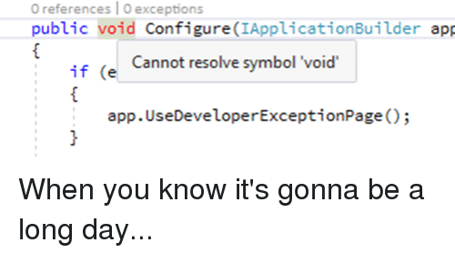 O References Oexceptions Public Void Configureiapplicationbuilder