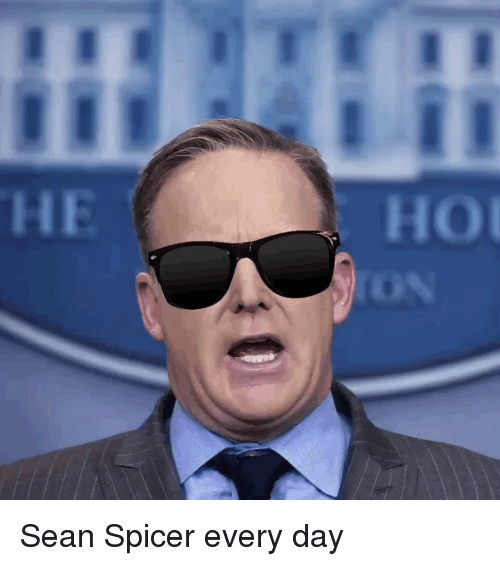 Politics, Day, and Every Day: O Sean Spicer every day