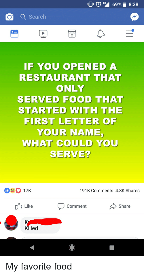 O Search IF YOU OPENED a RESTAURANT THAT ONLY SERVED FOOD THAT