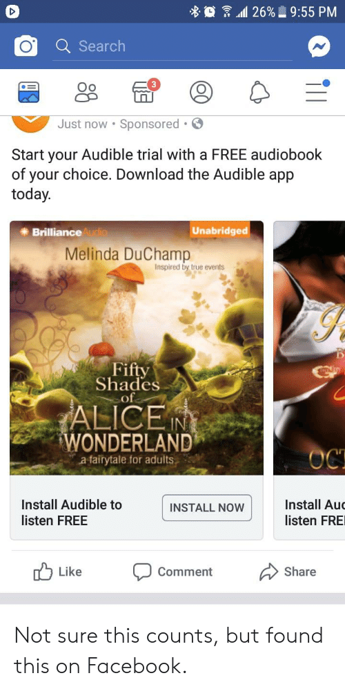 O Search Oo Just Now Sponsored Start Your Audible Trial With A Free