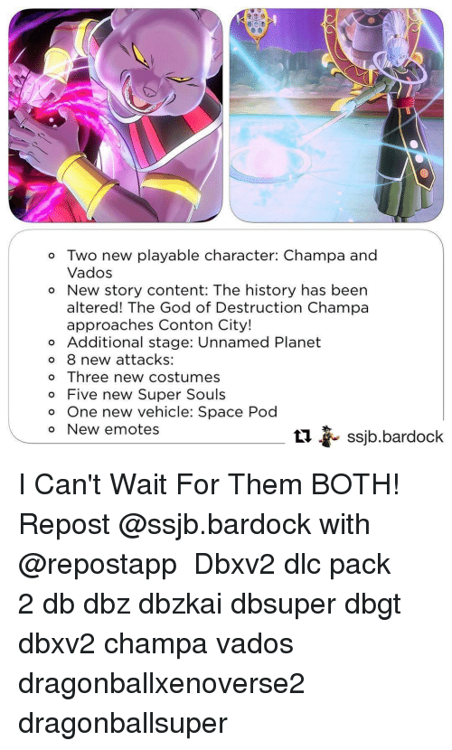 o two new playable character champa and vados o new story content
