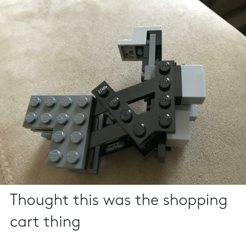 O13 The Lego Grog Td Thought This Was The Shopping Cart Thing Lego Meme On Me Me
