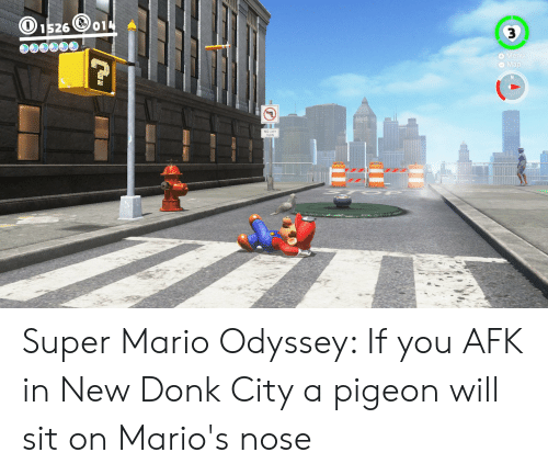 O1526 3 Menu O Map Super Mario Odyssey if You AFK in New