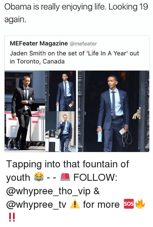 obama is really enjoying life looking 19 again mefeater magazine 20527520 ✅ 25 best memes about fountain of fountain of memes