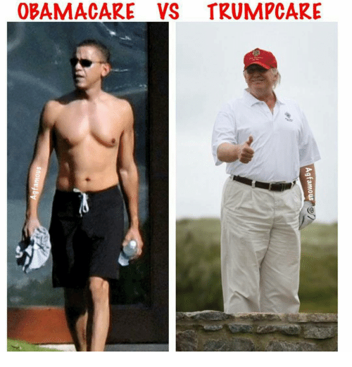 Memes, 🤖, and E36: OBAMACARE VS TRUMPCARE  Ag famous  snowej By  e36