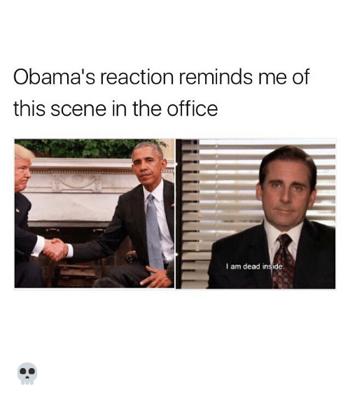 Obama s Reaction Reminds Me of This Scene in the Office I Am Dead ... 1c438a03a