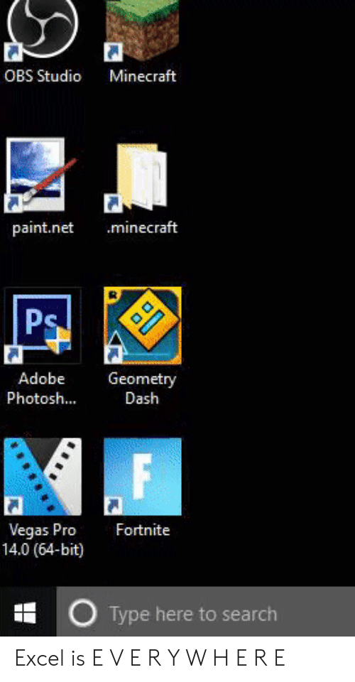 OBS Studio Minecraft Paintnet Minecraft Adobe Geometry PhotoshDash