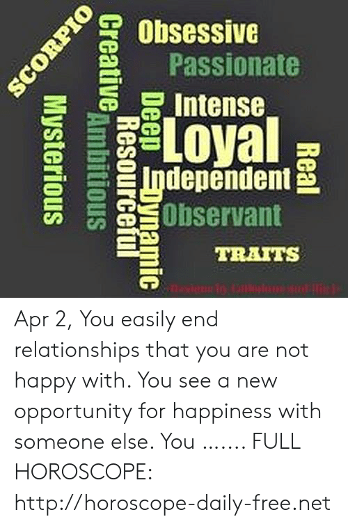 Obsessive Passionate O ' Independent Observant TRAITS Apr 2