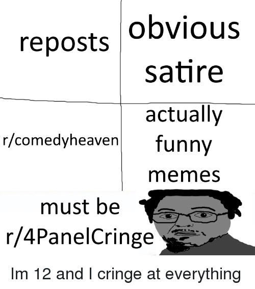 Obvious Satire Actually Reposts Rcomedyheaven Funny Memes Must Be