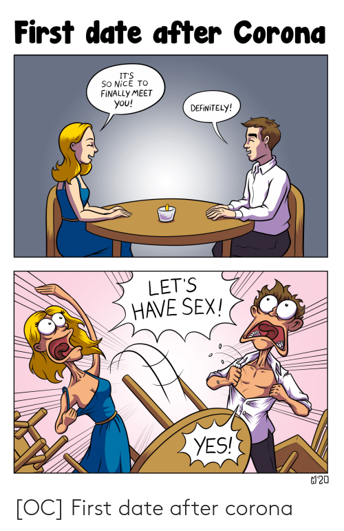 Date, Corona, and First: [OC] First date after corona