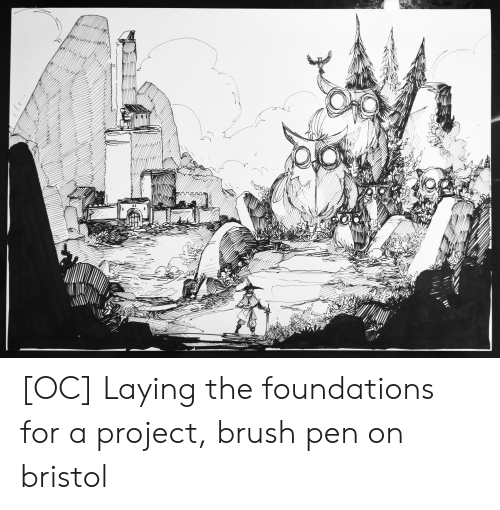 OC Laying the Foundations for a Project Brush Pen on Bristol