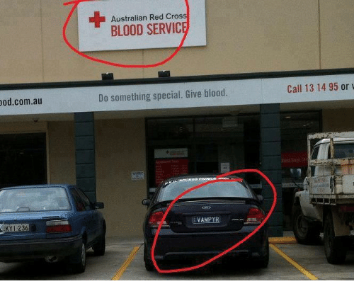 Bloods, Memes, and Cross: od.com.au  1236  Australian Red Cross  BLOOD SERVIC  Do something special. Give blood.  YR  Call 13 14 95 or