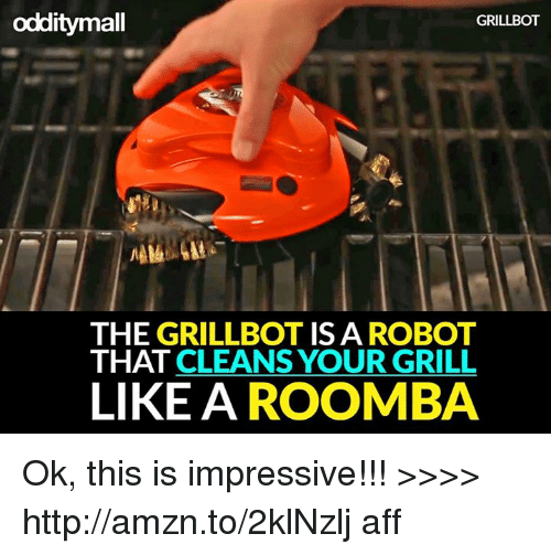 Odditymall Grillbot The Grillbot Isa Robot That Cleans Your Grill
