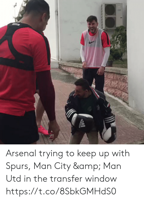 Arsenal, Memes, and Spurs: Odidas Arsenal trying to keep up with Spurs, Man City & Man Utd in the transfer window  https://t.co/8SbkGMHdS0