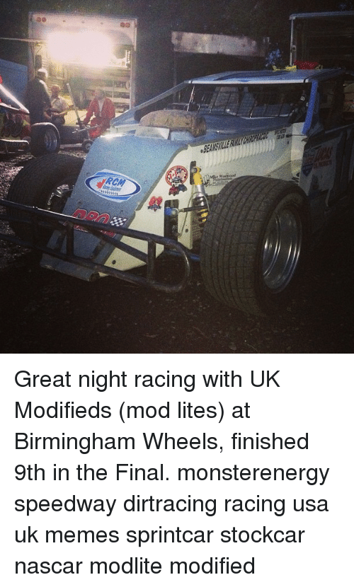 Oed Great Night Racing With UK Modifieds Mod Lites at Birmingham