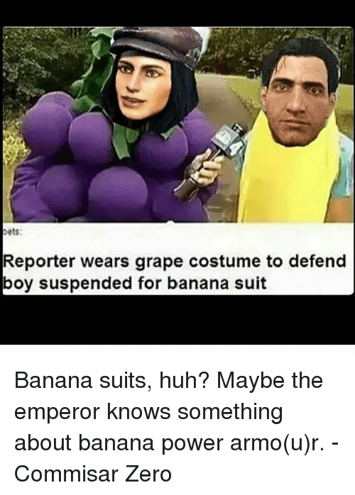 Oets Reporter Wears Grape Costume To Defend Boy Suspended For Banana