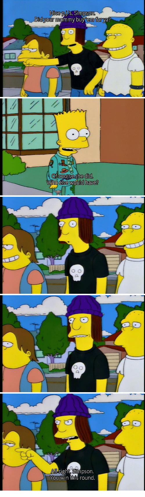 Simpson, Who, and Did: Of courseshe did.  Who else would have?   right. Simpson  You win this round