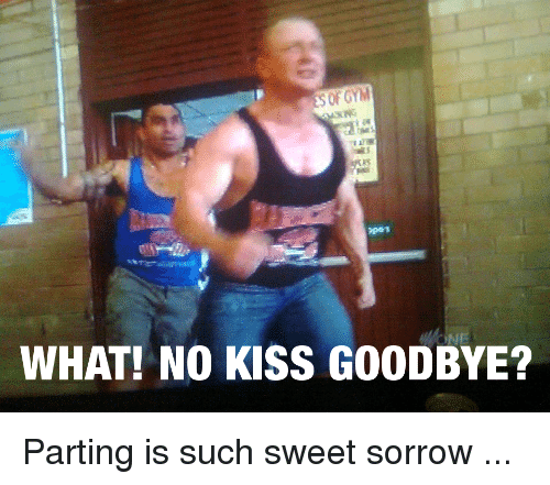 of gym 35 what no kiss goodbye parting is such 2730700 ✅ 25 best memes about no kiss goodbye no kiss goodbye memes