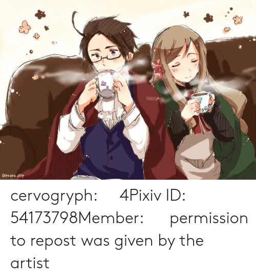 Target, Tumblr, and Blog: OFatara 05/y cervogryph:    ログ4Pixiv ID: 54173798Member: かたる   permission to repost was given by the artist