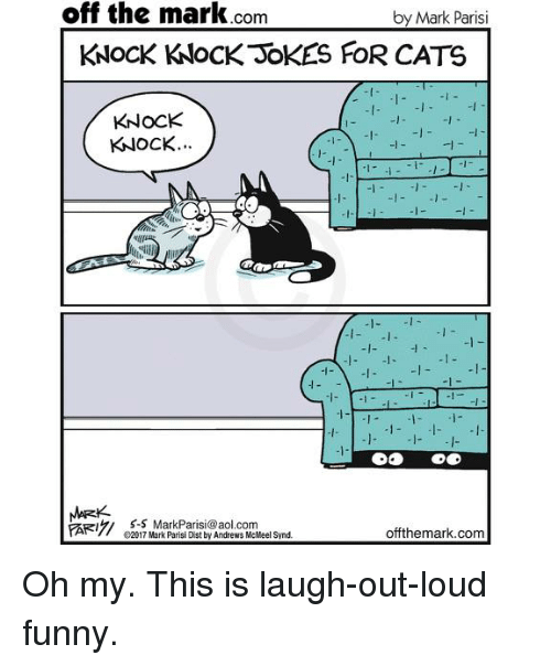 Off The Mark Com By Mark Parisi Knock Knock Jokes For Cats