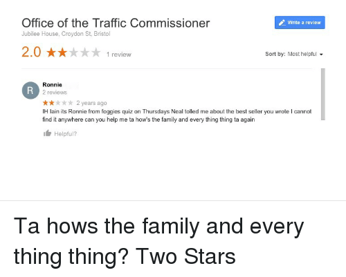 Family, Traffic, and Best  Office of the Traffic Commissioner Jubilee  House, Croydon ccdeb45086