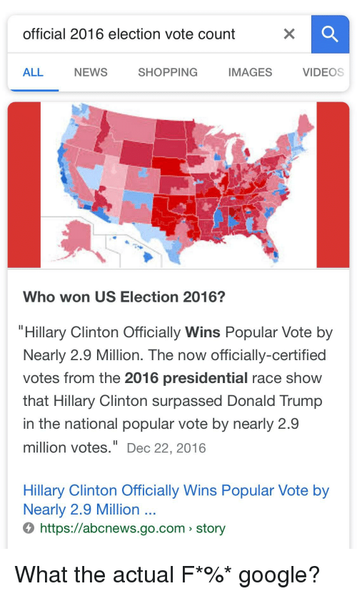 Official 2016 Election Vote Count All News Shopping Images Videos - Google-us-election-map