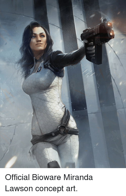 Art, Miranda, and Bioware: Official Bioware Miranda Lawson concept art.