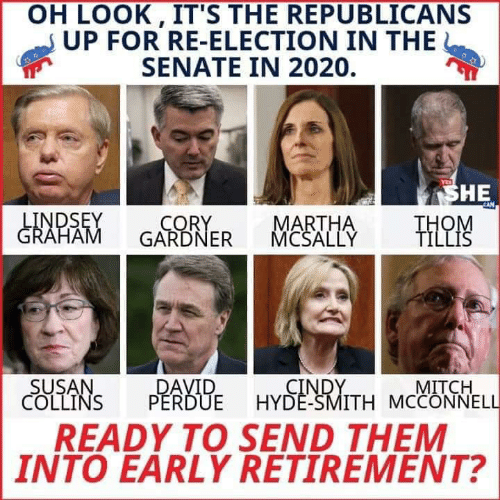 List Of Senators Up For Reelection In 2020.Oh Look It S The Republicans Up For Re Election In The