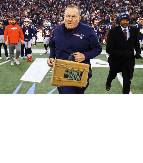 Bill Belichick, Football, and Nfl: OH MY! Bill Belichick is cashing in his MITB Briefcase! The Super Bowl is now a triple threat! https://t.co/4UZRCwWTjL