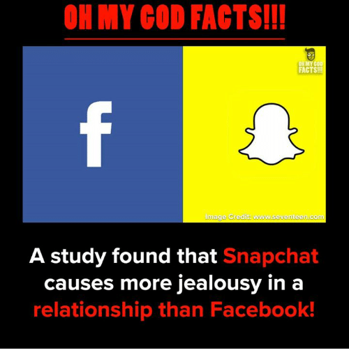 Facebook, Facts, and Memes: OH MY COD FACTS!!!  8  FACTS!!  Image Credit www.seventeen.comm  A study found that Snapchat  causes more jealousy in a  relationship than Facebook!