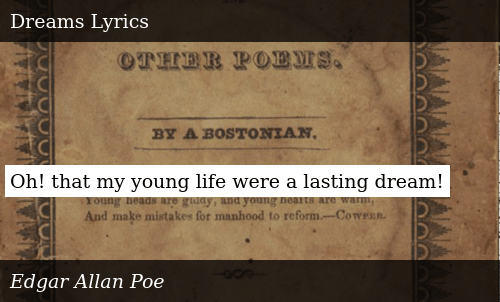 Oh! That My Young Life Were a Lasting Dream! | Donald Trump