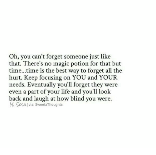The best way to forget someone