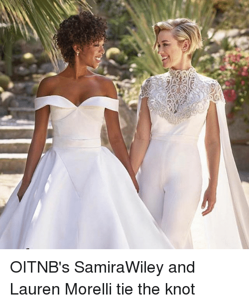 Memes, 🤖, and The Knot: OITNB's SamiraWiley and Lauren Morelli tie the knot